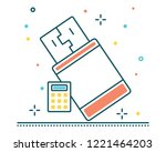 flash disk usb line filled icon ... | Shutterstock .eps vector #1221464203