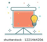 presentation line filled icon... | Shutterstock .eps vector #1221464206