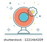 camera cctv line filled icon... | Shutterstock .eps vector #1221464209