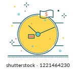 watch line filled icon... | Shutterstock .eps vector #1221464230