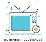 television line filled icon... | Shutterstock .eps vector #1221464233