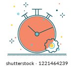 stopwatch line filled icon... | Shutterstock .eps vector #1221464239