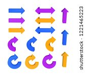 set of arrows. threedimensional....   Shutterstock .eps vector #1221465223