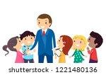 illustration of stickman kids... | Shutterstock .eps vector #1221480136