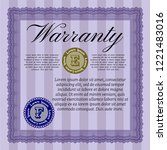 violet retro warranty template. ...   Shutterstock .eps vector #1221483016