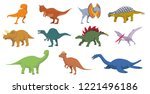 dinosaurs vector illustration... | Shutterstock .eps vector #1221496186