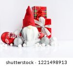 christmas composition with... | Shutterstock . vector #1221498913