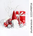 christmas composition with... | Shutterstock . vector #1221498916