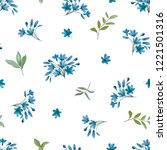seamless pattern with flowers...   Shutterstock .eps vector #1221501316