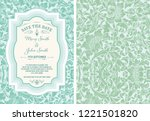 vintage save the date layout | Shutterstock .eps vector #1221501820
