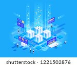 data visualization concept.... | Shutterstock .eps vector #1221502876