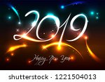 new years banner for 2019 with...   Shutterstock .eps vector #1221504013