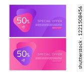 web banner design template.... | Shutterstock .eps vector #1221508456