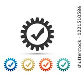 gear with check mark icon... | Shutterstock .eps vector #1221510586