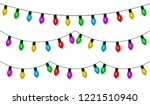 christmas lights string set... | Shutterstock .eps vector #1221510940