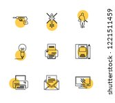 set of 9 icons  for web ... | Shutterstock .eps vector #1221511459