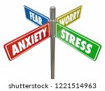 anxiety stress fear worry signs ... | Shutterstock . vector #1221514963