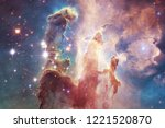Small photo of Billions of galaxies in the universe. Abstract space background. Elements of this image furnished by NASA