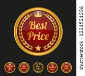 best price label on black... | Shutterstock .eps vector #1221521236