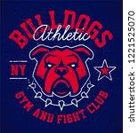 bulldog emblem design template. ... | Shutterstock .eps vector #1221525070