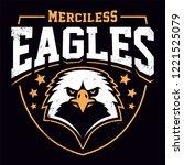 eagle mascot grunge emblem... | Shutterstock .eps vector #1221525079
