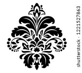 damask graphic ornament. floral ... | Shutterstock . vector #1221527863
