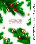 vintage abstract vector... | Shutterstock .eps vector #1221528289