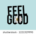 feel good typography... | Shutterstock .eps vector #1221529990