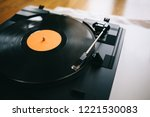 turntable with gramophone... | Shutterstock . vector #1221530083