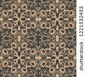 vector damask seamless retro...   Shutterstock .eps vector #1221532453