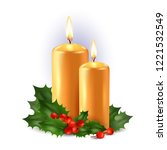 christmas background with two... | Shutterstock .eps vector #1221532549