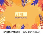 vector illustration in trendy... | Shutterstock .eps vector #1221544360