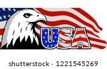 bald eagle symbol of north...   Shutterstock .eps vector #1221545269
