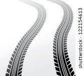 wheels track on light... | Shutterstock .eps vector #122154613