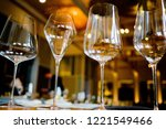 empty glasses wine in... | Shutterstock . vector #1221549466