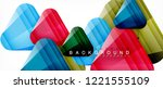 geometric abstract background ... | Shutterstock .eps vector #1221555109