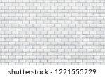 white brick wall vector... | Shutterstock .eps vector #1221555229