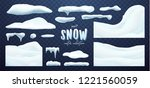vector collection of snow caps  ... | Shutterstock .eps vector #1221560059
