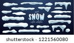 vector collection of snow caps  ... | Shutterstock .eps vector #1221560080