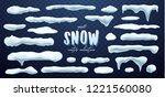 vector collection of snow caps  ... | Shutterstock .eps vector #1221560080