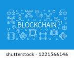blockchain vector concept... | Shutterstock .eps vector #1221566146
