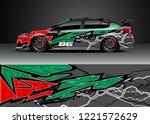 car decal graphic vector  wrap...   Shutterstock .eps vector #1221572629