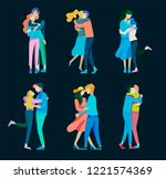 vector people character.... | Shutterstock .eps vector #1221574369