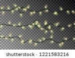 christmas color lights string... | Shutterstock .eps vector #1221583216