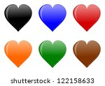 colorful heart for your love as ... | Shutterstock . vector #122158633