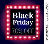 black friday  sale  retro frame ... | Shutterstock .eps vector #1221586900