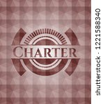 charter red seamless badge with ... | Shutterstock .eps vector #1221588340
