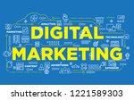 illustration of creative banner ... | Shutterstock .eps vector #1221589303