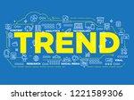 illustration of creative banner ... | Shutterstock .eps vector #1221589306