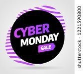 cyber monday discount sale... | Shutterstock .eps vector #1221590800